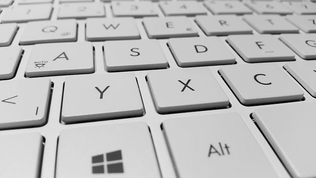 detail klávesnice